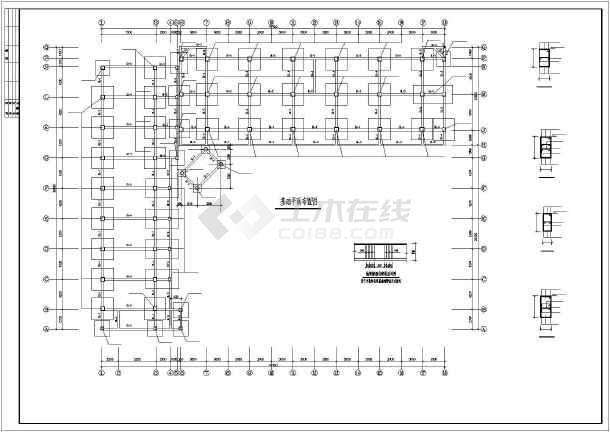 某4层框架高中实验楼结构设计图-图1