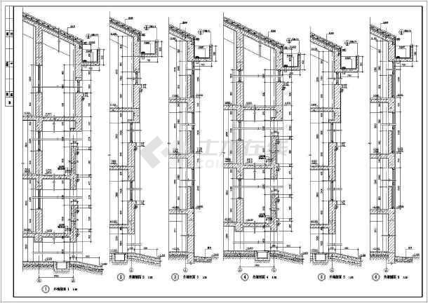 某地大型中学建筑施工图-图一