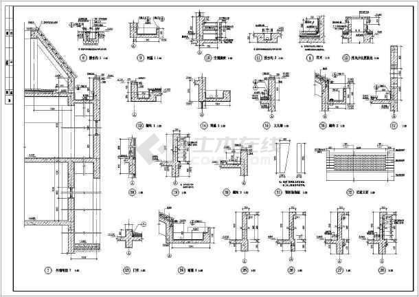 某地大型中学建筑施工图-图2