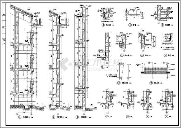 某地大型中学建筑施工图-图3