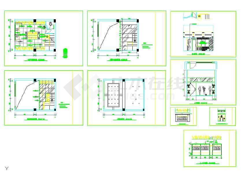 点击查看某地服装店室内装修设计cad方案图(共9张)第2张大图