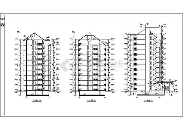 某小区小高层住宅楼建筑设计图(共16张)-图2