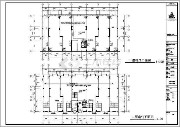 [湖南]四季花城商住楼电气施工图-图一