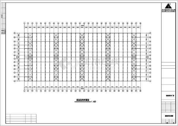 某钢筑厂房建筑结构cad图纸-图1