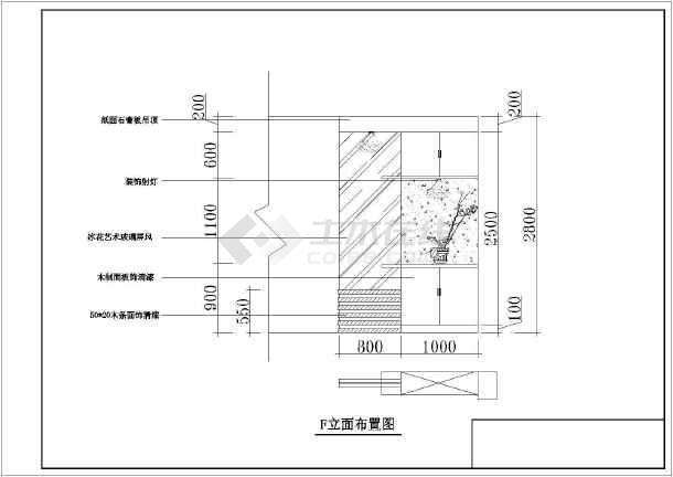 某四室户型室内设计装修cad施工图-图1