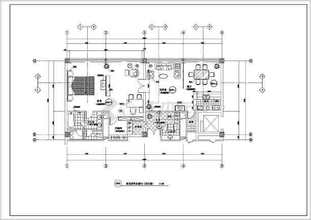 某酒店客房室内装修cad施工图-图2