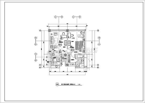 某酒店客房室内装修cad施工图-图3
