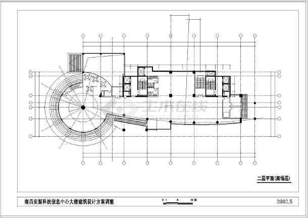 点击查看某市高层办公大楼建筑设计cad方案图第1张大图
