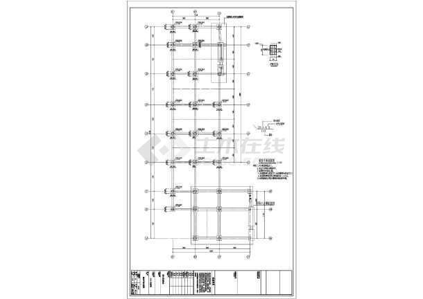 六安某4层框架商铺结构设计图-图2
