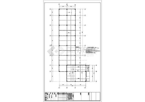六安某4层框架商铺结构设计图-图3