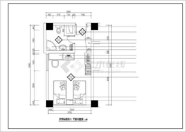 点击查看某酒店详细室内装饰cad立面图第1张大图