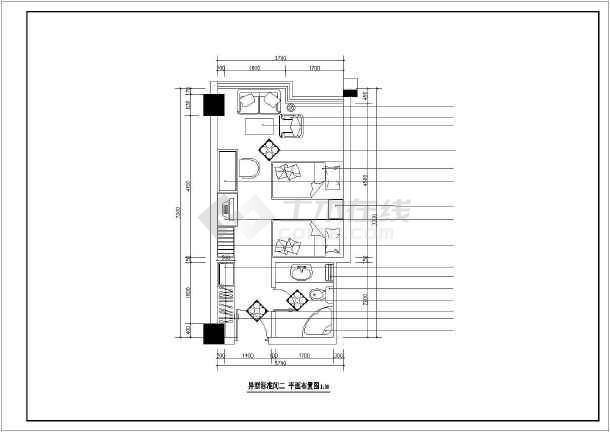 某酒店详细室内装饰cad立面图-图1