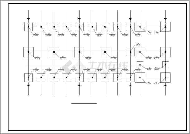 点击查看天门市某一层框架中学食堂结构设计图第1张大图