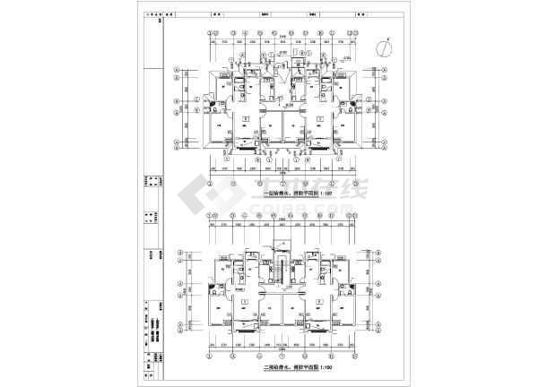 安徽多层住宅建筑给排水施工图-图二