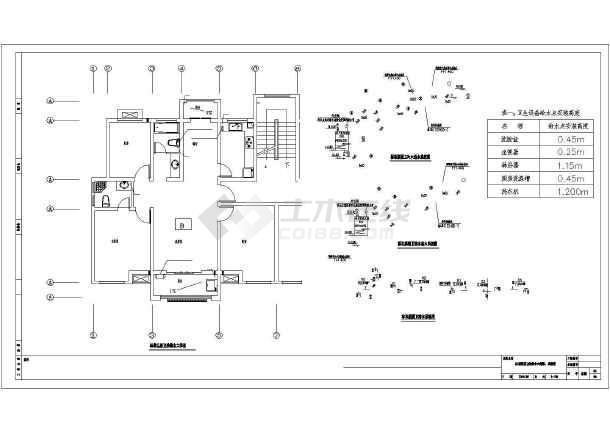 安徽多层住宅建筑给排水施工图-图2