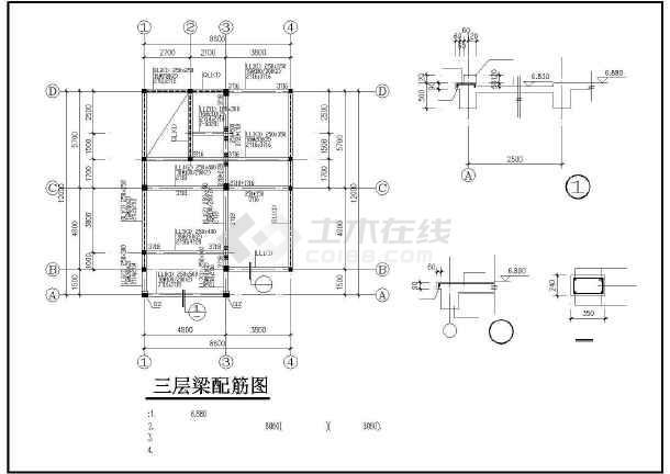 三层别墅全套建筑结构详图-图1