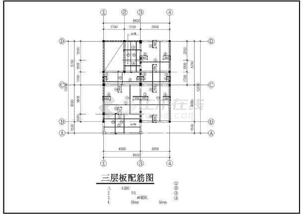 三层别墅全套建筑结构详图-图3