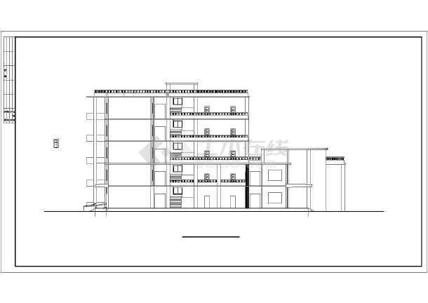 点击查看某地大型学校教学楼建筑扩出图第1张大图