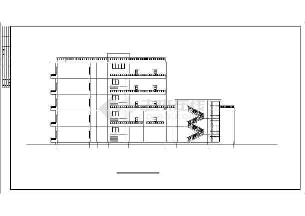 点击查看某地大型学校教学楼建筑扩出图第2张大图