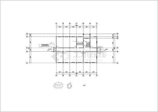 点击查看某实验大楼建筑设计施工cad图第1张大图