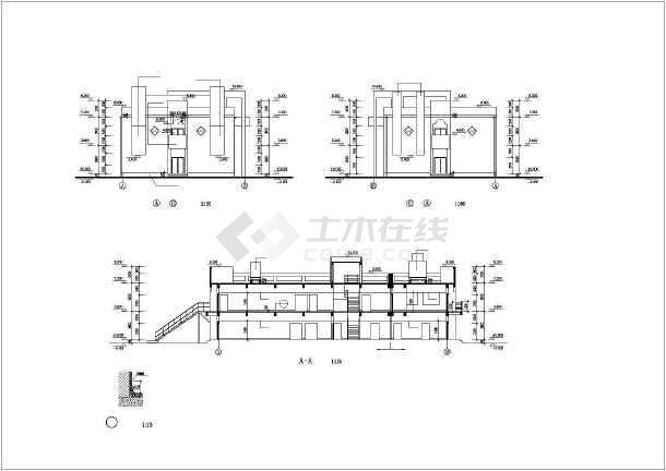 某实验大楼建筑设计施工cad图-图2