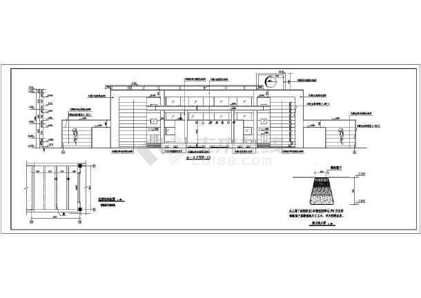 某地一座大型的青少年活动中心建筑施工图(包含建筑说明共9张)-图2