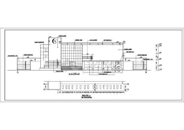 某地一座大型的青少年活动中心建筑施工图(包含建筑说明共9张)-图3
