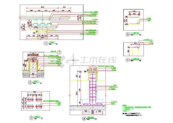 中式休闲廊架木结构图(内含平、立、剖面)-图3