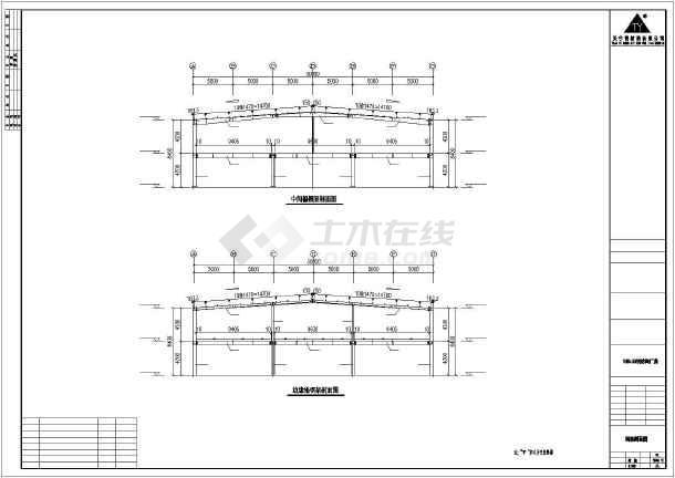 某地钢框架厂房建筑结构设计图-图3