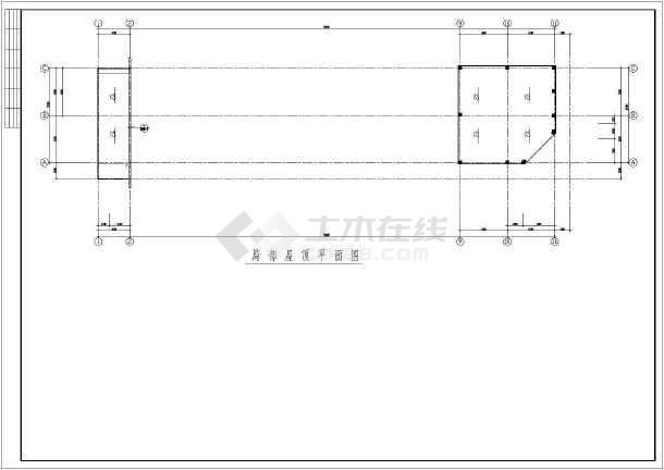 某三层(局部四层)框架办公楼建筑结构设计图-图一