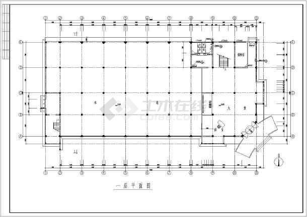 点击查看某三层(局部四层)框架办公楼建筑结构设计图第2张大图