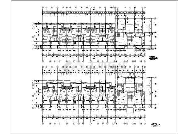 一整套齐全的花园洋房住宅楼建筑cad设计施工图-图1