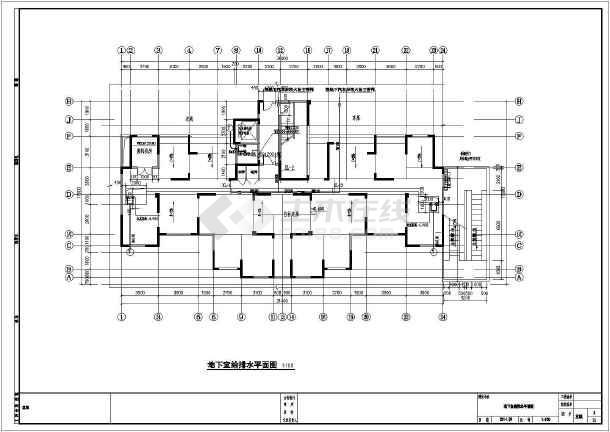 安徽高层住宅小区及其配套建筑给排水施工图-图一