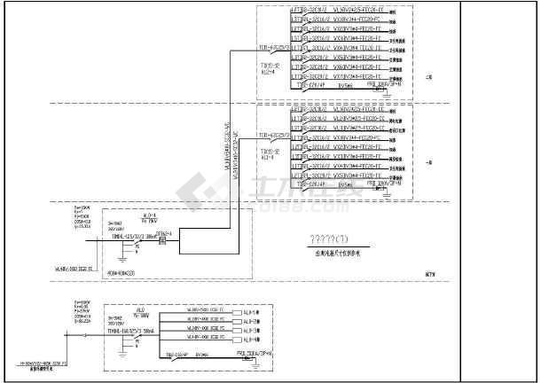 某地新式别墅电气设计图CAD图纸-图3