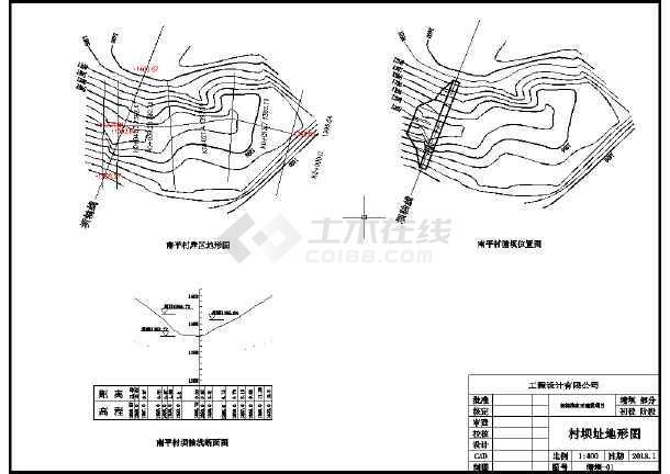 x县xx浆砌石塘坝工程施工图(附实施方案)-图1
