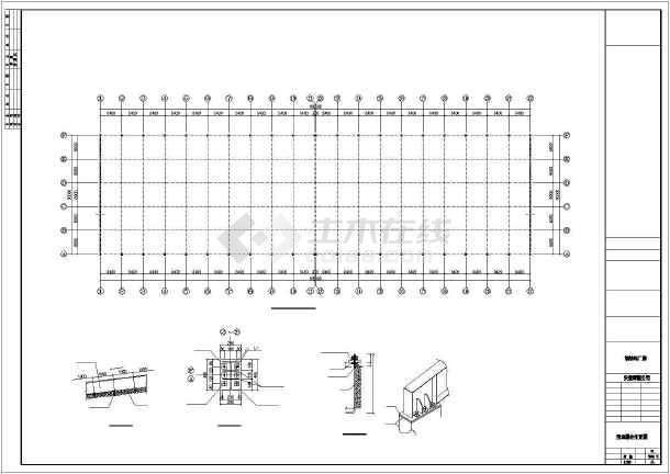 点击查看某地方公司钢筑厂房建筑结构CAD图第2张大图