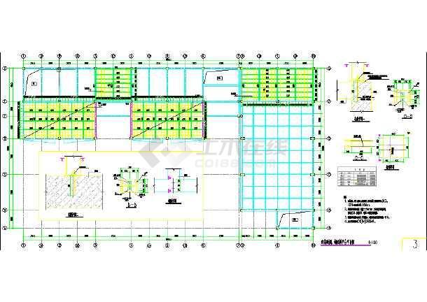 钢结构楼梯平、立面及详图-图1
