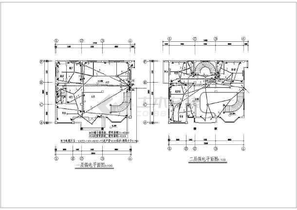 点击查看某地方新别墅电气施工图CAD图纸第1张大图