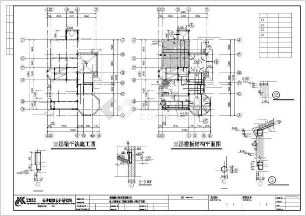 独立欧式别墅建筑结构图纸-图3