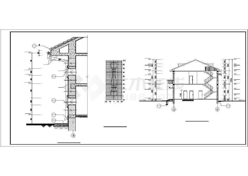比较简单的一套别墅建筑设计图-图2