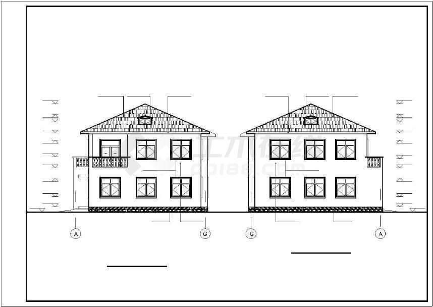比较简单的一套别墅建筑设计图-图3