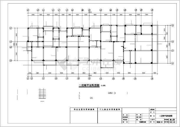 某7层异形柱框架住宅结构设计图-图3