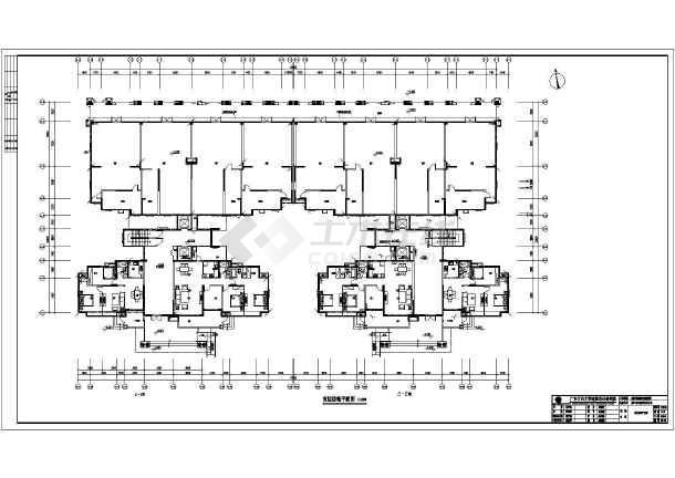 [广东]住宅楼核心筒电气施工图(含防雷装置大样图)-图1