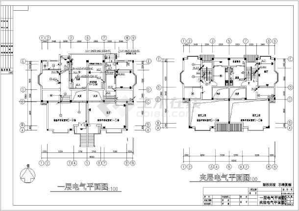 某北方新别墅电气设计图全套-图二