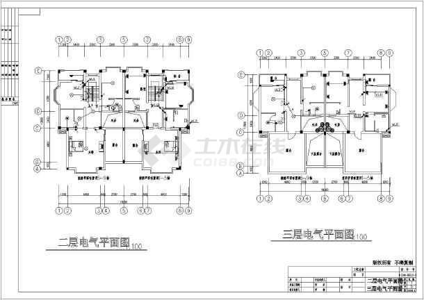 某北方新别墅电气设计图全套-图2