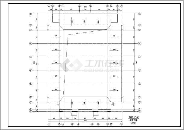某地中学方案建筑设计图(共5张)-图一