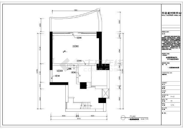 点击查看金域蓝湾简欧家装设计施工图第1张大图