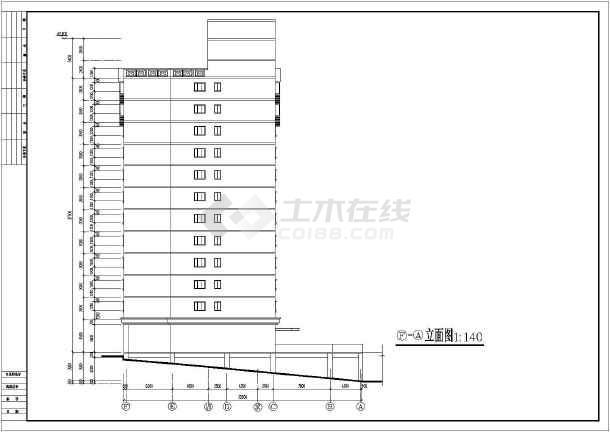 某地多层的学生宿舍建筑设计图-图3