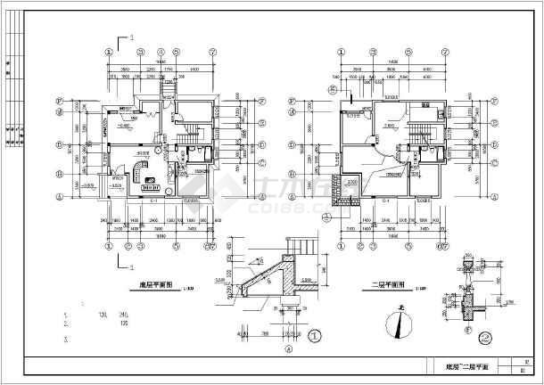 简单实用的新型农村住宅建筑设计施工图-图3