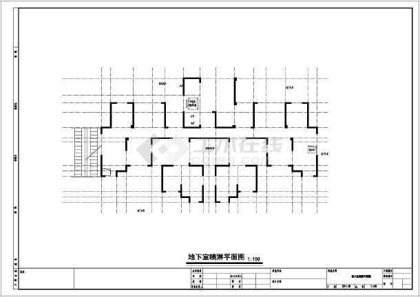 安徽三十三层住宅楼给排水施工图纸-图一